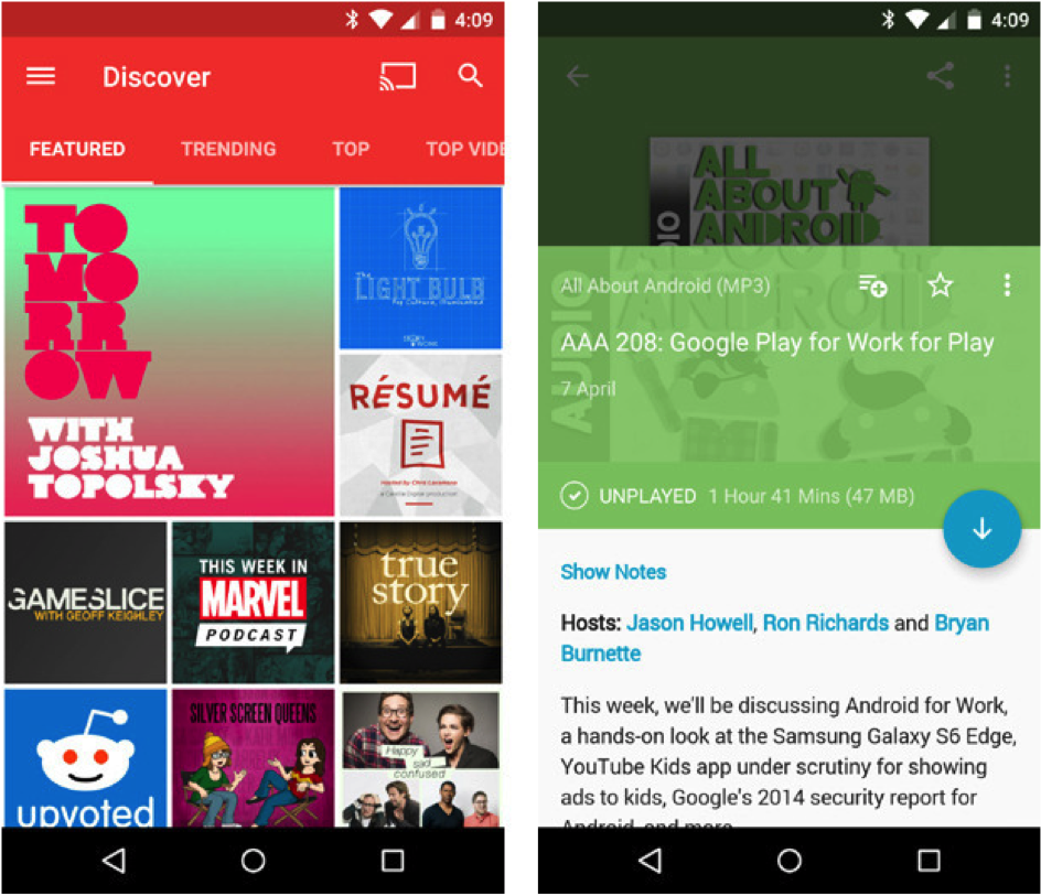 Pocket Casts Android Uygulaması
